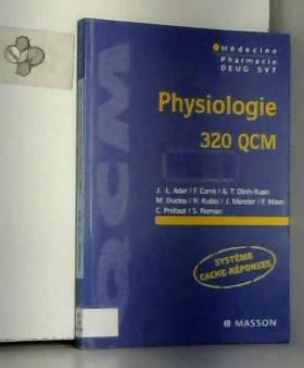 Ader - Physiologie, 320 QCM