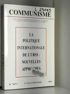 Collectif - C74/75 politique internationale URSS