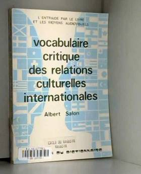 Vocabulaire critique des...