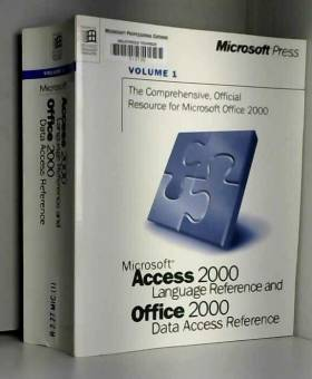 Unknown - The Comprehensive, Official Resource Guide for Microsoft office 2000 Volume 1: Microsoft Access...