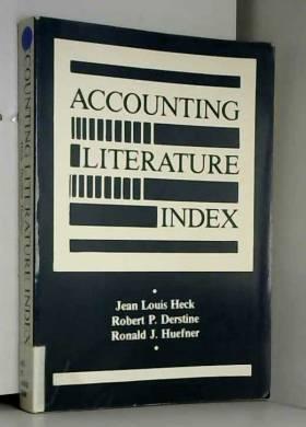 Jean Louis Heck et et al - Accounting Literature Index