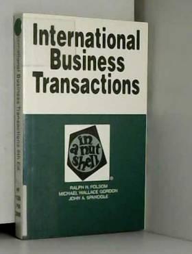 FOLSOM - International Business Transactions: In a Nutshell