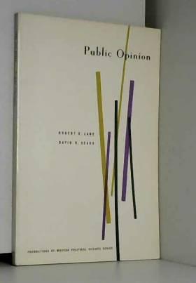 D. O. Lane. R. E.& Sears - Public Opinion