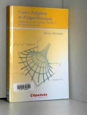 Pierre Meunier - Cours d'algèbre et d'algorithmique - Applications à la cryptologie du RSA et du logarithme discret