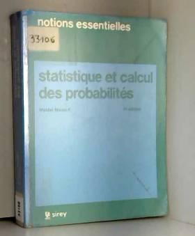 Walder Masiéri - Statistique et calcul des probabilites