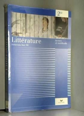 Hélène Sabbah - Littérature 2nde. textes et méthodes