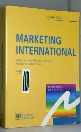 Jean Marc de Leersnyder - MARKETING INTERNATIONAL. 3ème édition
