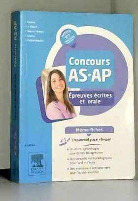 Jacqueline Gassier, Jean-Bernard Allardi,... - Concours AS/AP - Épreuves écrites et orale - Mémo-fiches: L'essentiel pour réviser