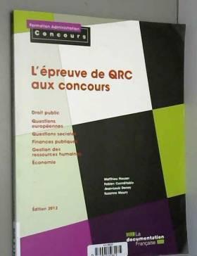 L'épreuve de QRC aux concours