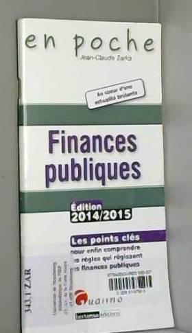 Jean-Claude Zarka - Finances publiques 2014-2015