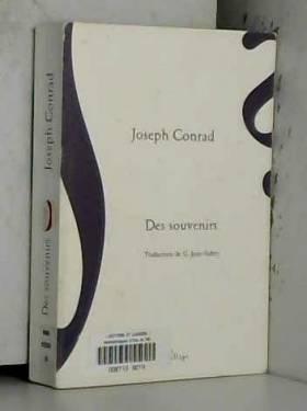 Joseph Conrad et G Jean-Aubry - Des souvenirs