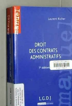 Laurent Richer - Droit des contrats administratifs