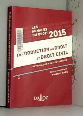 Thierry Garé - Annales Introduction au droit et droit civil 2015