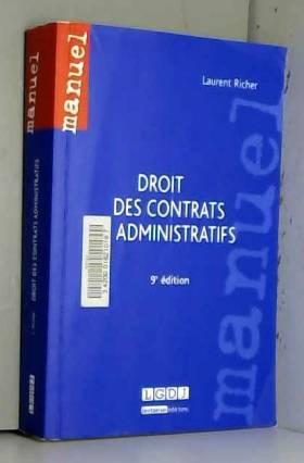 Laurent Richer - Droit des contrats administratifs, 9ème Ed