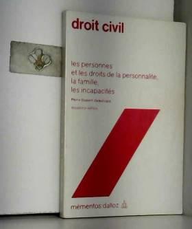 DUPONT DELESTRAINT Pierre - Droit civil (Mémentos Dalloz)