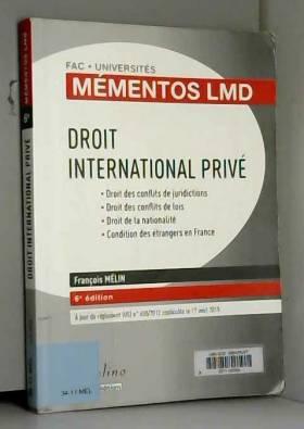 Droit international privé,...