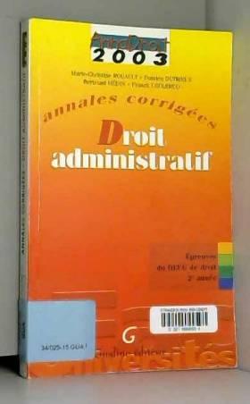 Annales corrigées 2003 :...