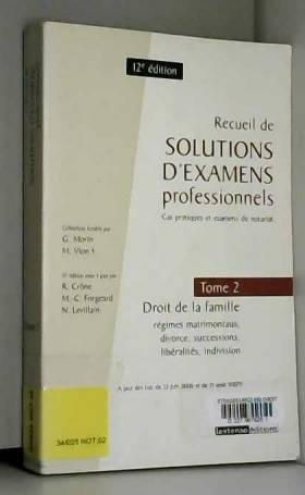 Recueil de solutions...