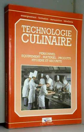 TECHNOLOGIE CULINAIRE....