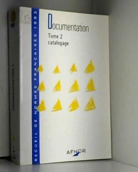 Association française de normalisation - Catalogage