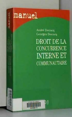 A. Decoq - Droit de la concurrence