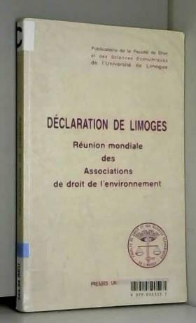 Collectif - Déclaration de Limoges, 1re édition