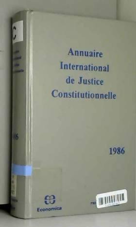 Annuaire International De Justice... - volume 2 1986