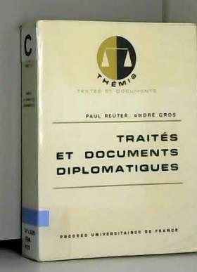 Paul/ Gros Reuter - Traités et documents diplomatiques/Reuter, Paul/Gros, André/Réf42472