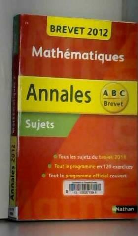 ANNALES BREVET 2012 MATHS 3E