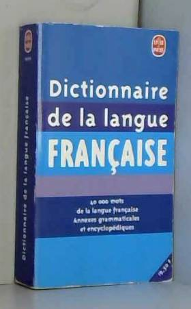Dictionnaire de la langue...
