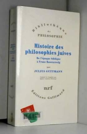 Histoire des philosophies...