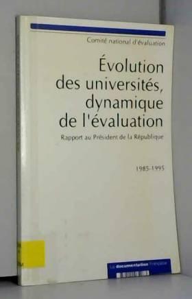 Evolution des universités, dynamique de l'évolution