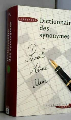 Dictionnaire des synomymes