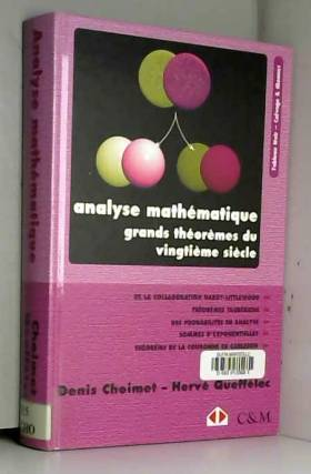 Analyse mathématique....
