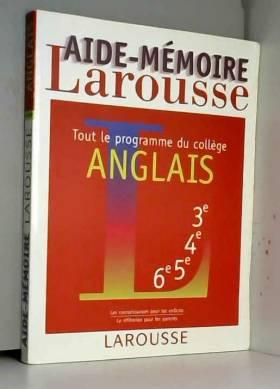 Aide-mémoire, anglais
