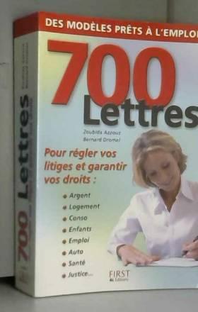 700 lettres pour régler vos...