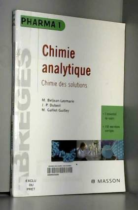 Chimie analytique : chimie...