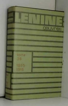 Oeuvres de Lénine, tome 38...