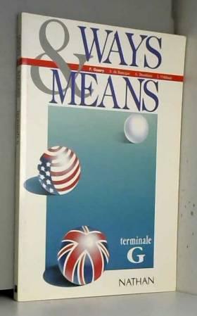 ANGLAIS TERMINALE G WAYS...