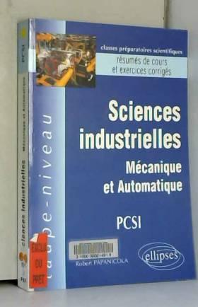 Sciences industrielles PCSI...