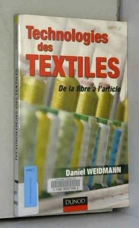 Technologies des textiles :...