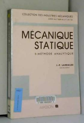 Mécanique statique : Tome...