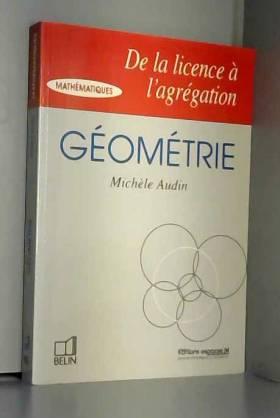 Géométrie, de la licence à...