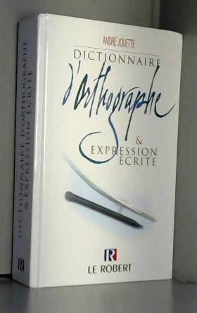 Dictionnaire d'orthographe...