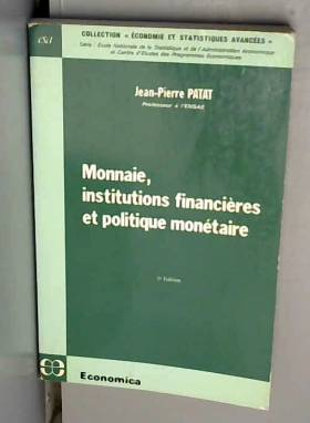 Monnaie, institutions...
