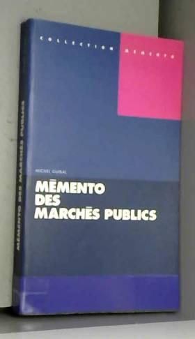 Mémento des marchés publics