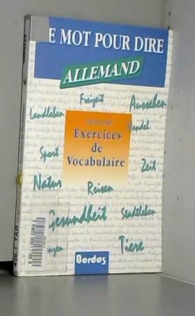 Françoise Tard - Allemand - Exercices de vocabulaire ( Le Mot pour dire)